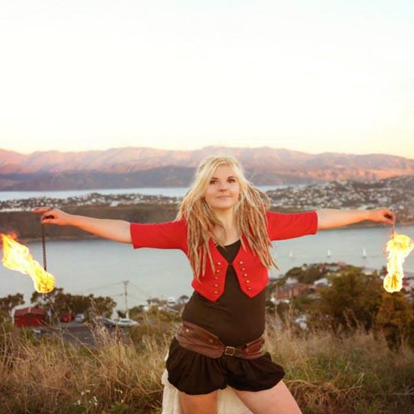 Fire Poi Performer | Ryn Hooligan
