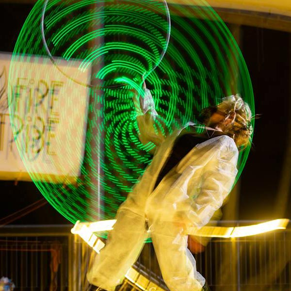 Hazardous Substance - Solo LED Hoop Act | Ryn Hooligan